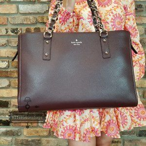 Chocolate Cherry Kate Spade Andee Cobble HILL BAG